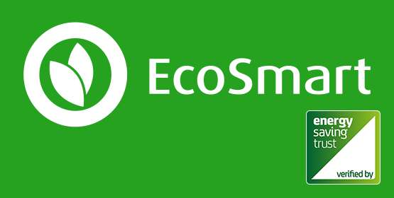 Recognised by Energy Saving Trust as an EcoSmart appliance