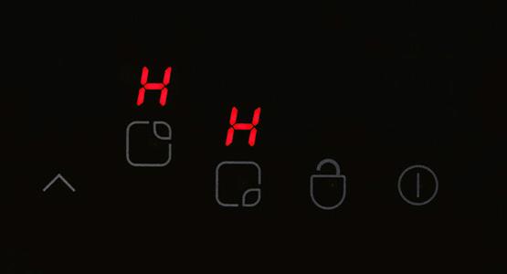 heat indicator hob setting