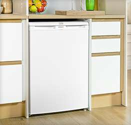 under-counter fridge designed to fit underneath worktops