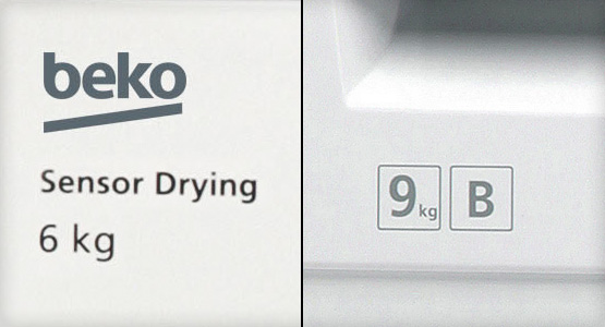 6 to 9kg drying capacity