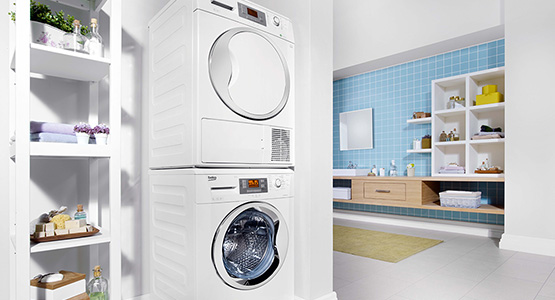 tumble dryer can be stored above washing machine