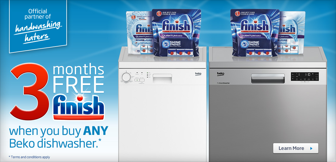 Beko 3 Months Free Finish Tablets