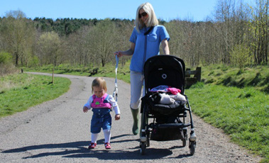 Mum in Brum blogger walking with her daughter