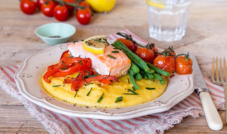salmon-and-polenta