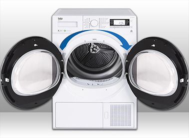tumble dryer with reversible doors