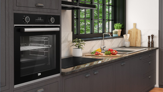 ovens built in integrated oven range beko. Black Bedroom Furniture Sets. Home Design Ideas