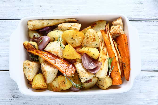 Roasted Potatoes and parsnips