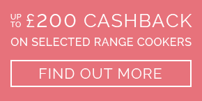 Up to £200 cashback on selected appliances - find out more