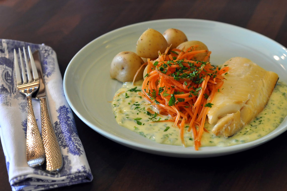 Smoked Haddock With Parsley And Caper Sauce