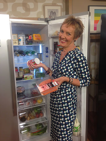 Household expert Aggie demonstrates Beko American fridge freezer