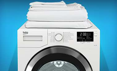 Towels on a washing machine