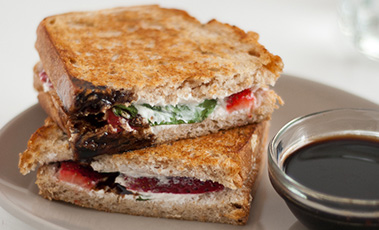 strawberry panini