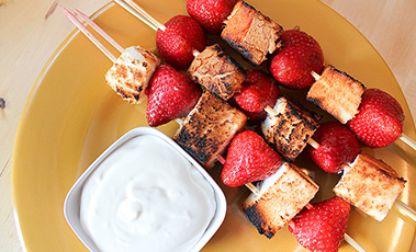 strawberry shortcake kebab sticks