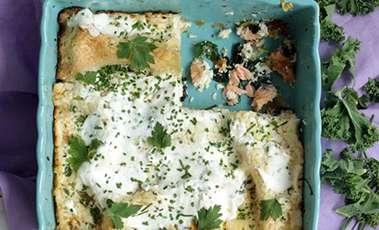 Kale and Salmon Lasagne