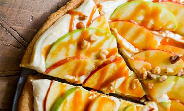Apple Caramel Dessert Pizza