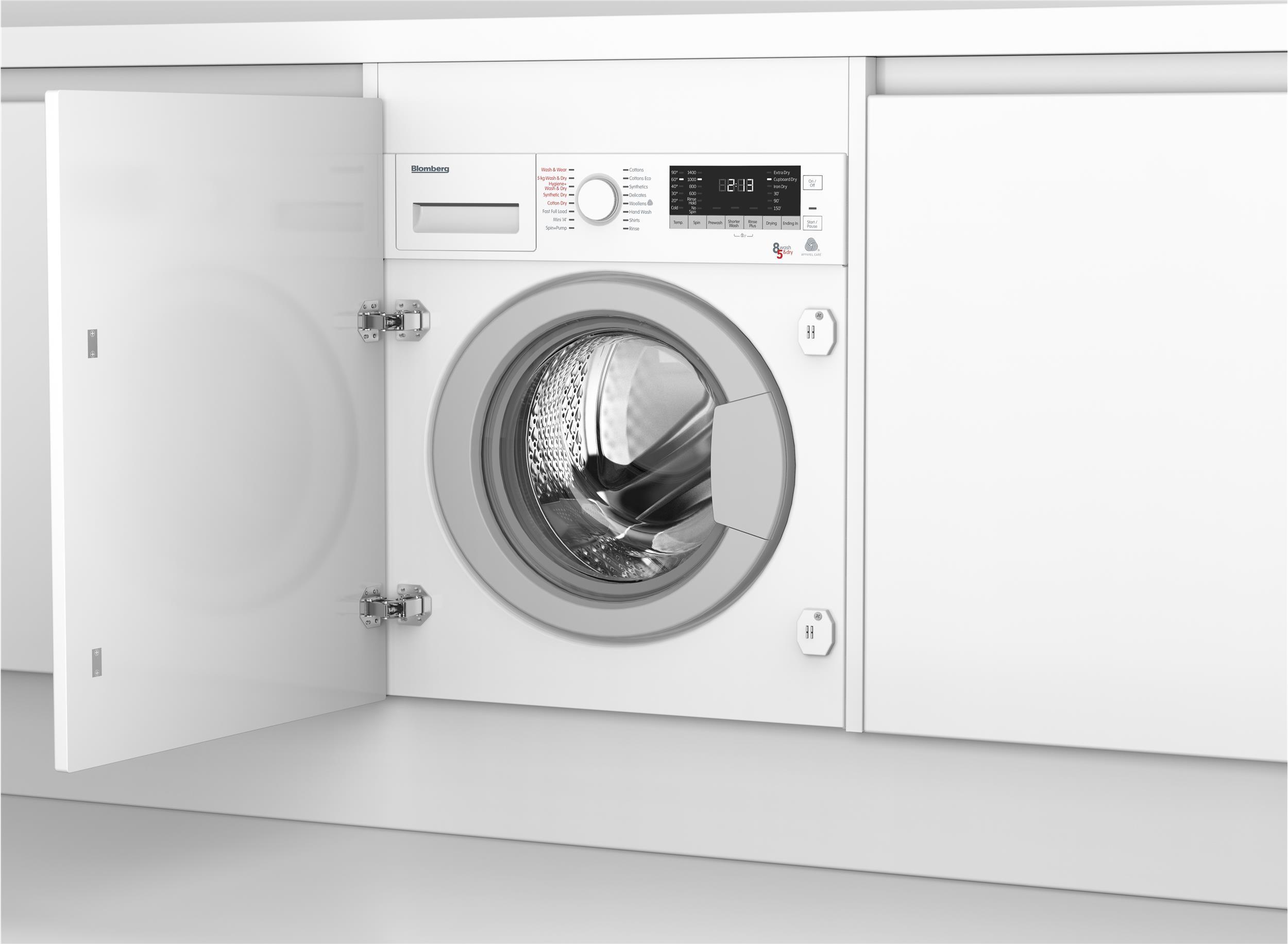 lri285411 integrated washer dryer with 8kg 5kg capacity. Black Bedroom Furniture Sets. Home Design Ideas
