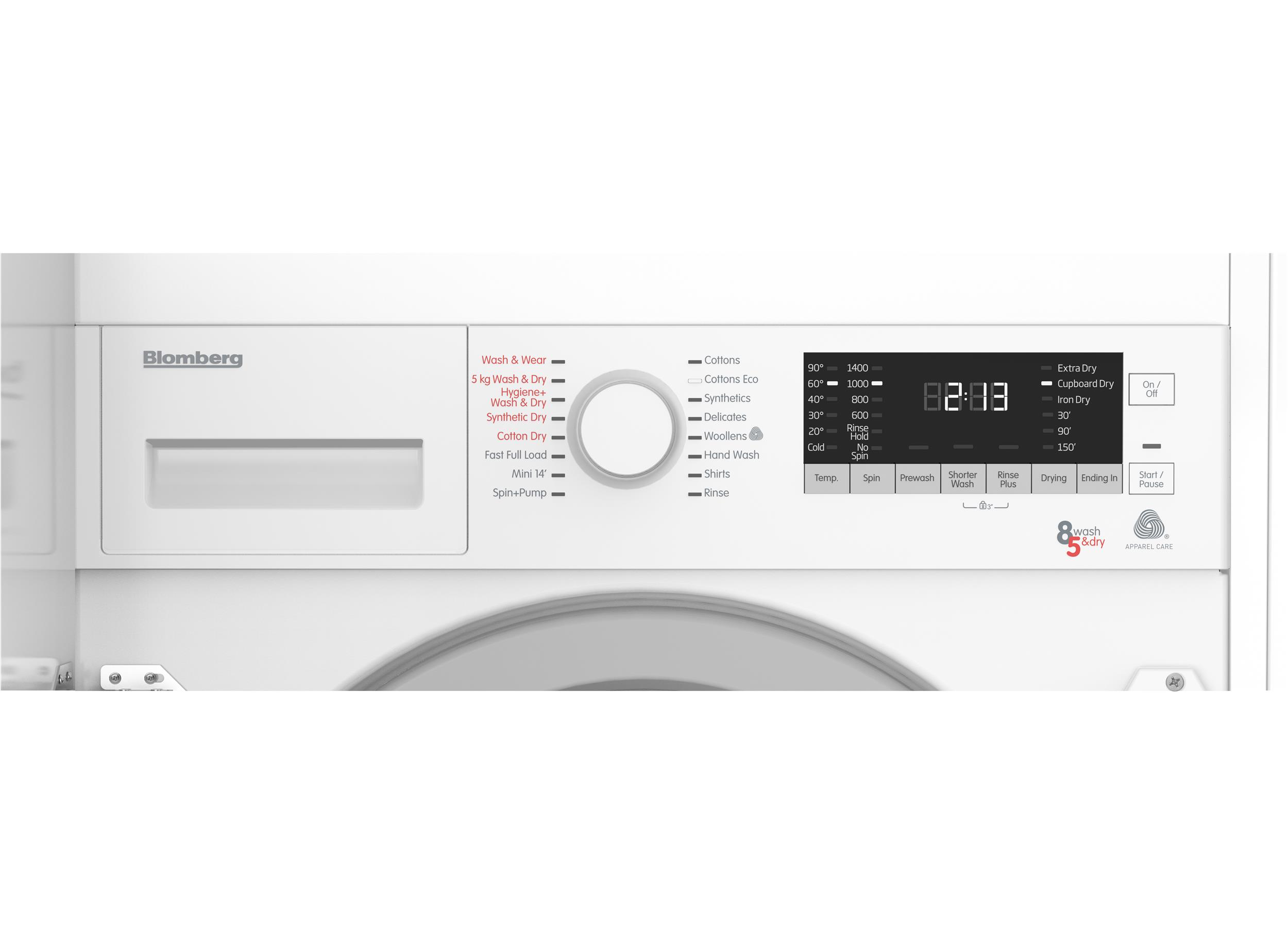 Lri285411 Integrated Washer Dryer With 8kg 5kg Capacity
