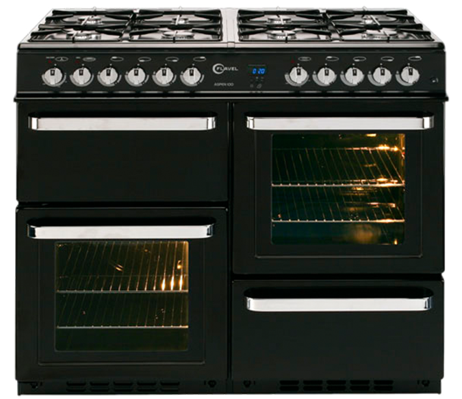 8 burner dual fuel range cooker