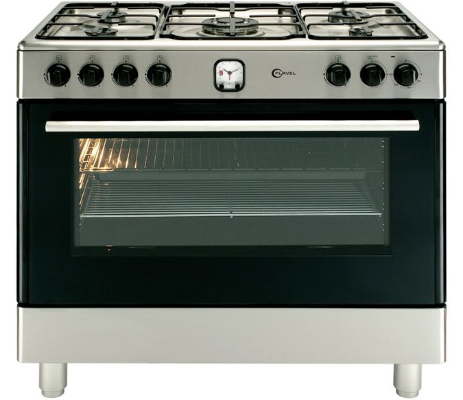 Large capacity 90cm single cavity range cooker with programmable timer