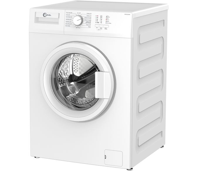 This compact model is rated A++ for energy efficiency, and with a slim depth, it can fit snugly in a small appartment kitchen. Special features include a fast wash option (28 min).