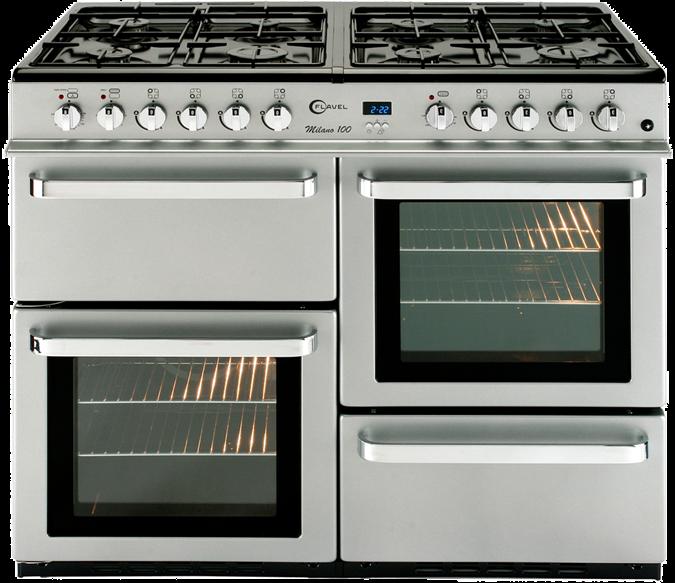 8 burner dual fuel range cooker