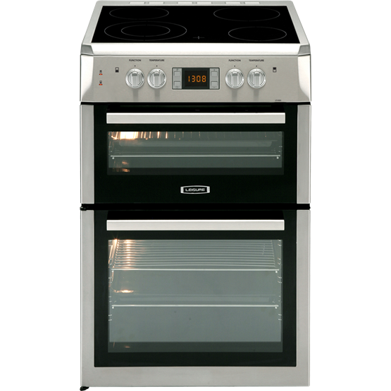 60cm Electric cooker with twin ovens and four zone induction hob
