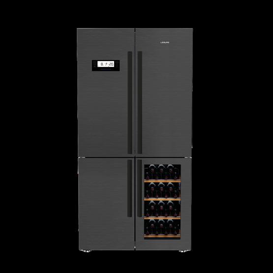 American Style Fridge Freezer with Wine Cooler
