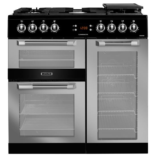 90cm Cuisinemaster dual fuel range cooker