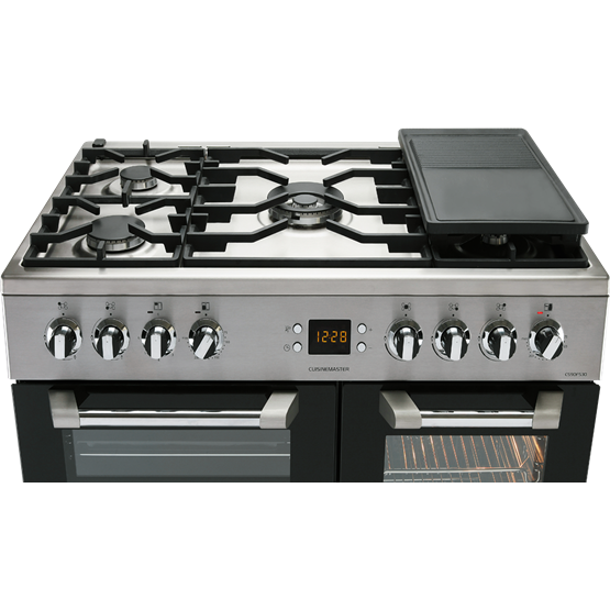Leisure_Cuisinemaster_CS90F530X_Stainlessteel_Hob cuisinemaster cs90f530 range cooker leisure rangemaster 110 clock wiring diagram at bayanpartner.co