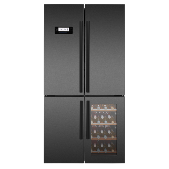 American Style Fridge Freezer with Wine Cooler