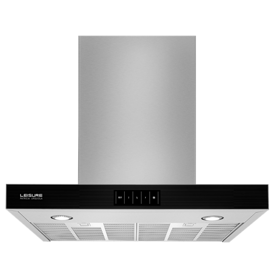 60cm Contemporary Chimney Hood with Glass Front