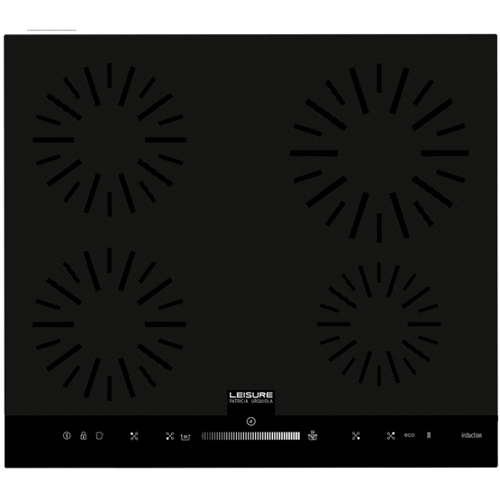 Induction hob with Touch Slider Control