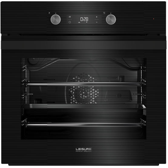 60cm single oven with programmable touch control LED timer